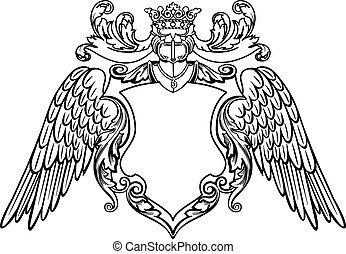 emblema, alato