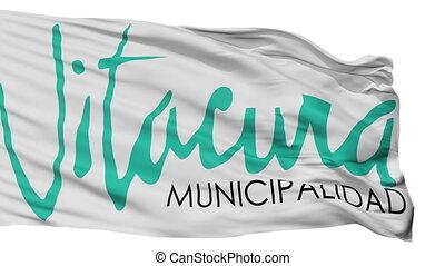 emblema, ciudad, bandera, aislado, vitacura, chile