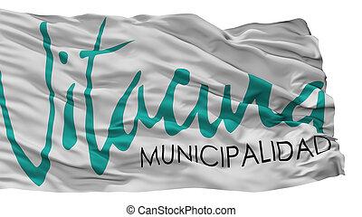 emblema, ciudad, bandera, aislado, vitacura, chile, plano de fondo, blanco
