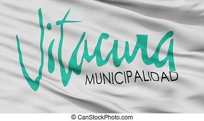 emblema, ciudad, bandera, vitacura, primer plano, chile