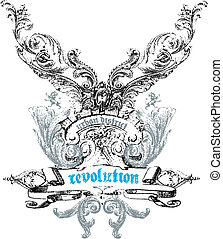 emblema, crista, desenho
