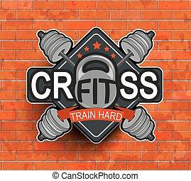 emblema, crossfit, símbolo.