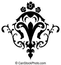 emblema, damasco