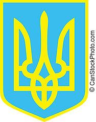 emblema, di, ucraina