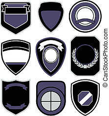 emblema, diseño, insignia, protector