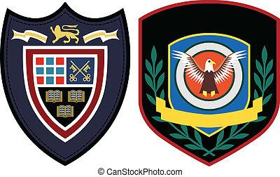 emblema, diseño, remiendo