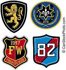emblema, disegno, distintivo