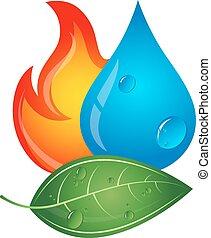 emblema, energía renovable, fuentes