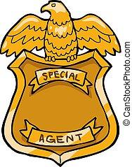 emblema, especiais, agente
