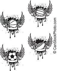 emblema, esportes