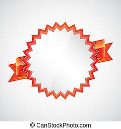 emblema, fita vermelha