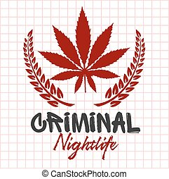emblema, -, gamberros, vida nocturna, bandidos, criminal