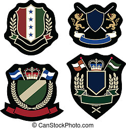 emblema, ghirlanda, distintivo, classico