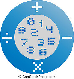 emblema, matemática