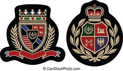 emblema, moda, distintivo