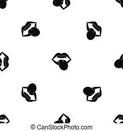 emblema, modello, nero, seamless, roccia