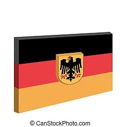 emblema nazionale, di, germania