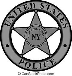 emblema, nova iorque, departamento polícias