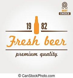 emblema, ou, emblema, loja, taverna, vindima, cerveja, logotype, elemento, cerveja, desenho, barzinhos, lar, café, bebida fermentada, logotipo, restaurante