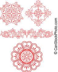 emblema, projeto floral