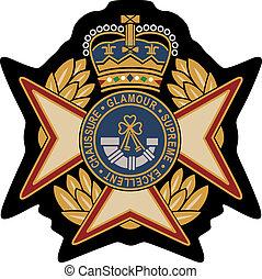 emblema, protector, insignia, real