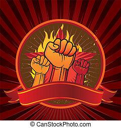 emblema, puño