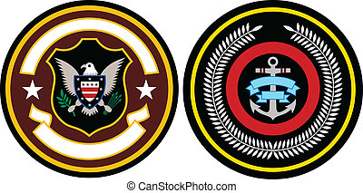 emblema, remiendo, diseño
