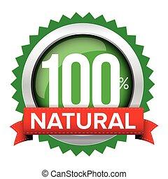 emblema, vetorial, natural, fita, vermelho