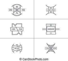 emblemas, jogo, vindima, retro