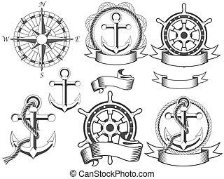emblemas, náutico