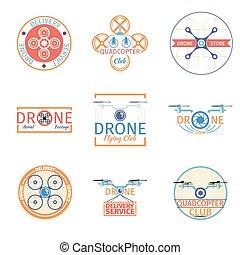 emblemas, quadrocopter