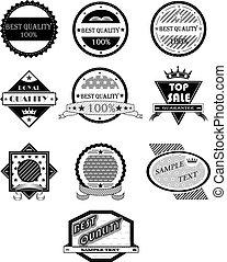 emblemas, vetorial, jogo