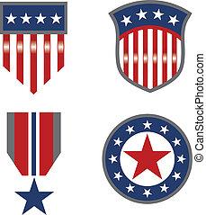 emblematy, americana