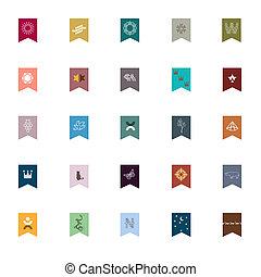 emblematy, elementy, projektować