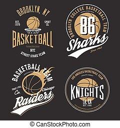 emblems., calle, diseño, deporte, ropa de deporte, ...