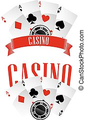 emblems, casino, of, tekens & borden
