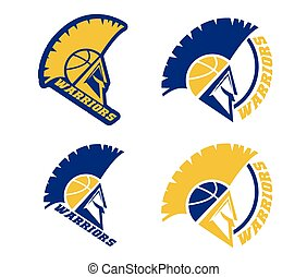 emblems of basketball warriors team