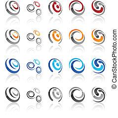 emblems., satz, modern