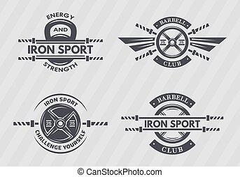 emblems., set, sport