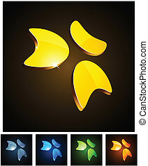emblems., vibrante, 3d