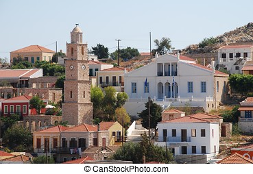 Emborio village, Halki island