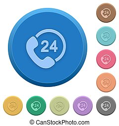 Embossed 24 hour services buttons