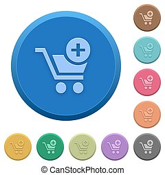 Embossed add to cart buttons