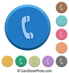 Embossed call buttons