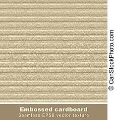 Embossed cardboard. Seamless vector background.