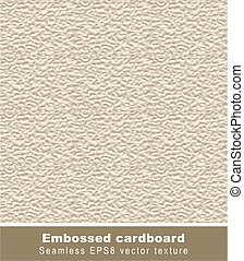 Embossed cardboard. Vector seamless background.