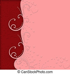 Embossed Hearts for Valentines Day