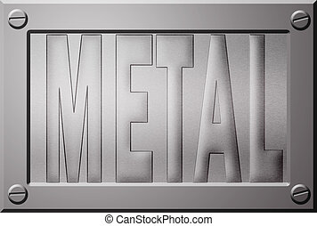 Embossed metal plate - Embossed metal plate or background...