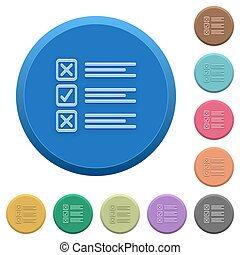 Embossed questionnaire buttons