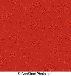 Embossed snowflake background